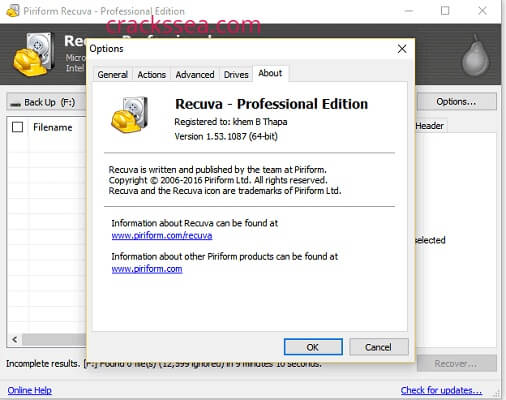Recuva Pro Crack Plus Serial Keys Plus Keygen Full