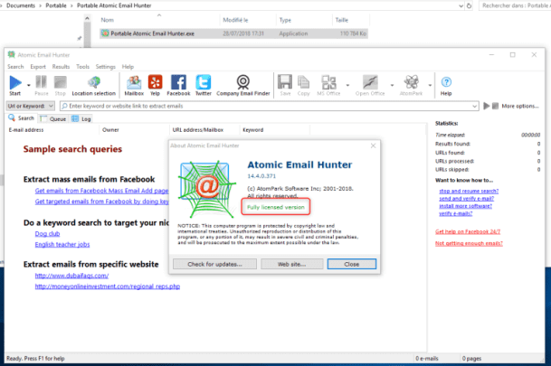 Atomic Email Hunter Latest Version + Activation Key